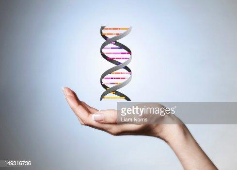 Hand holding strain of DNA