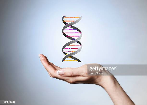 Hand holding strain of DNA
