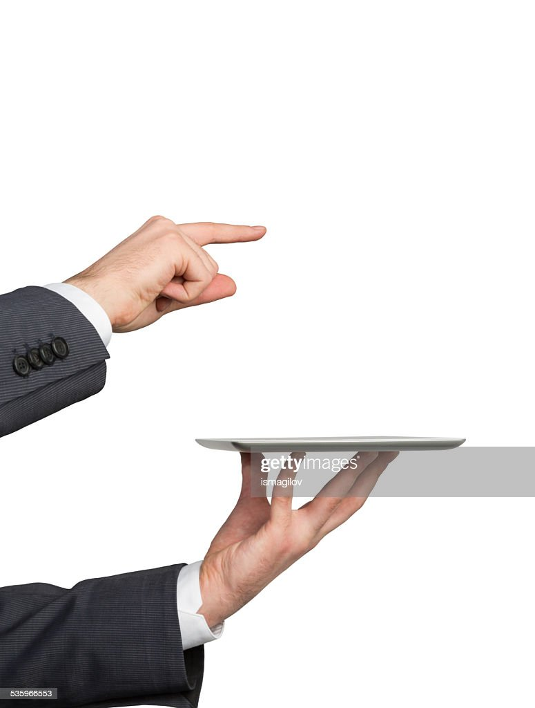 Hand holding touch pad : Stock Photo