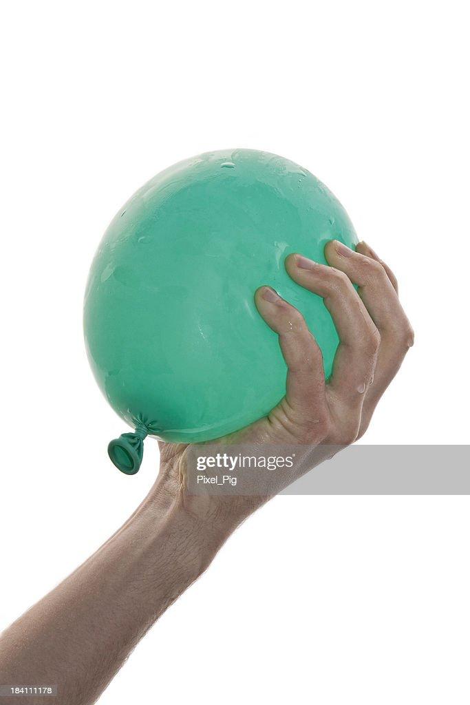 Hand  holding Water Balloon