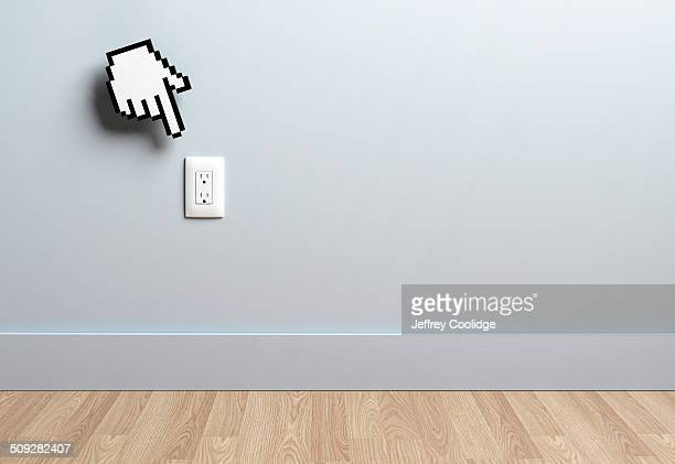 Hand Icon and Outlet