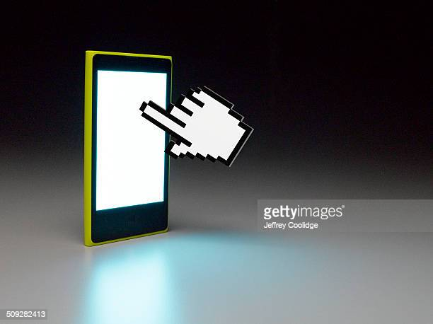 Hand Icon and Smart Phone