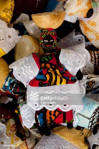 Hand made West African dolls at Banjul Craft Market, Banjul, Gambia