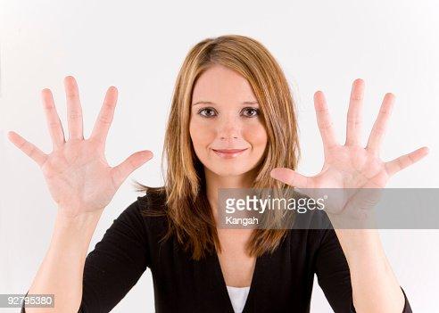 Hand Number series ten