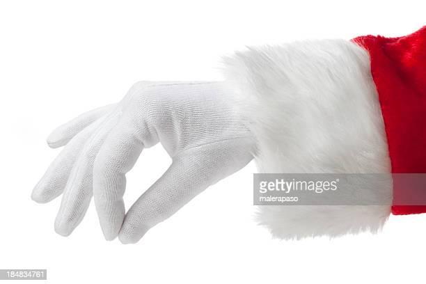 手のサンタクロース
