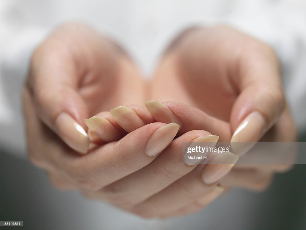 Hand of woman who importantly has it