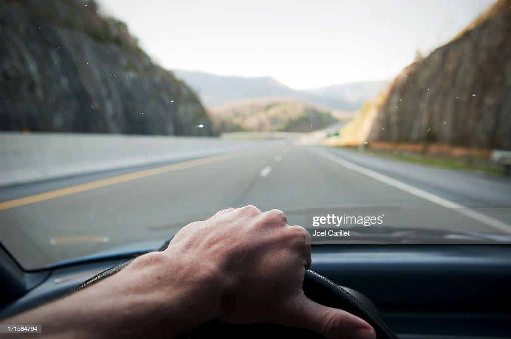 Hand on the wheel