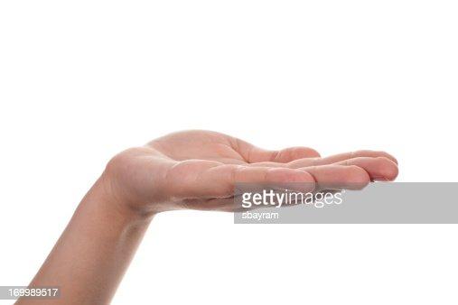 Hand, open palm