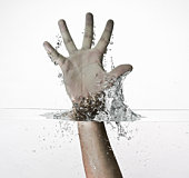 Hand out of water