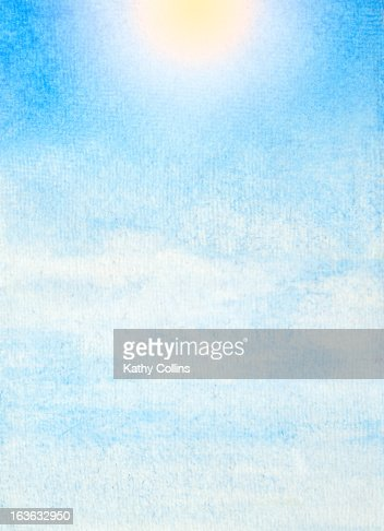 Hand painted blue sky : Foto stock