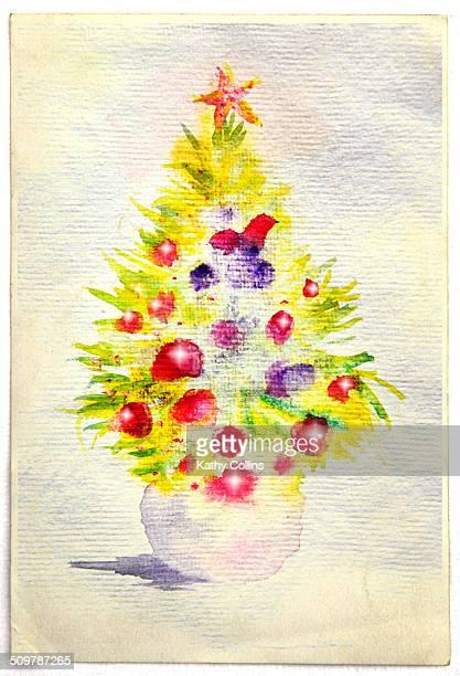 Hand painted Christmas Tree