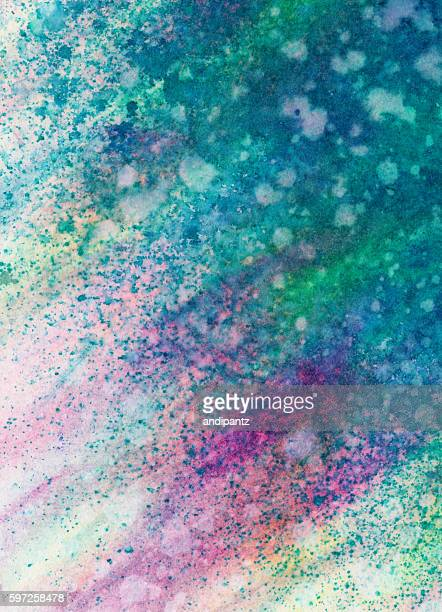 Hand painted colorful background with splattered texture