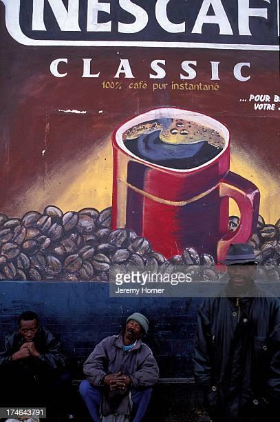 Hand painted Nescafe advert