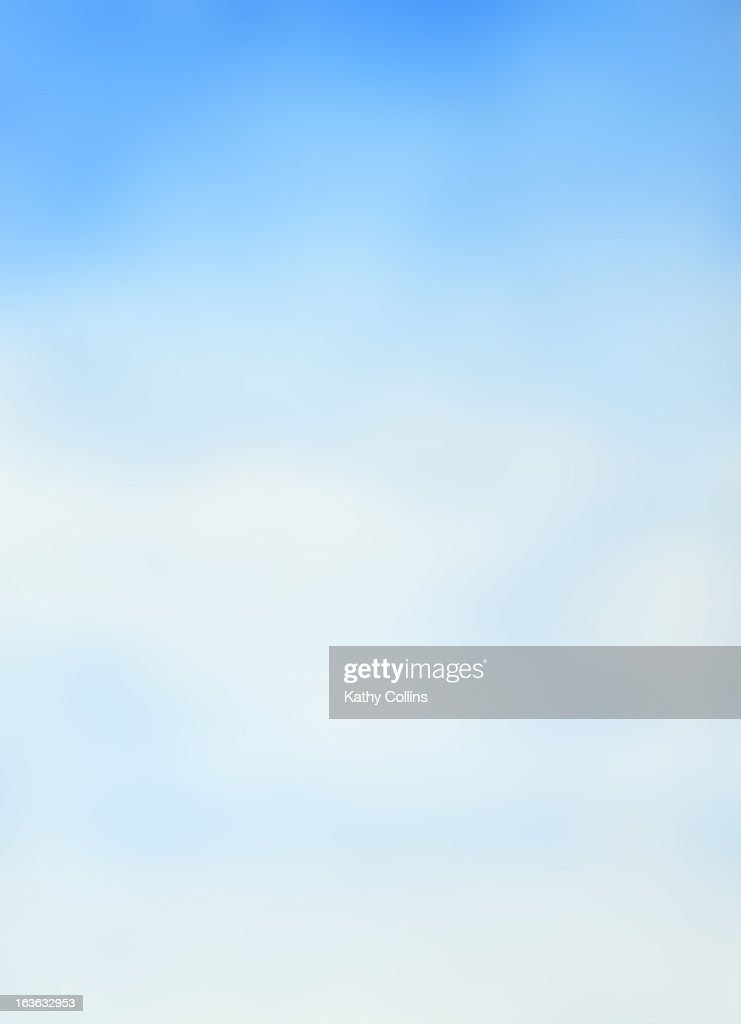 Hand painted soft dreamy blue sky : Stock Photo