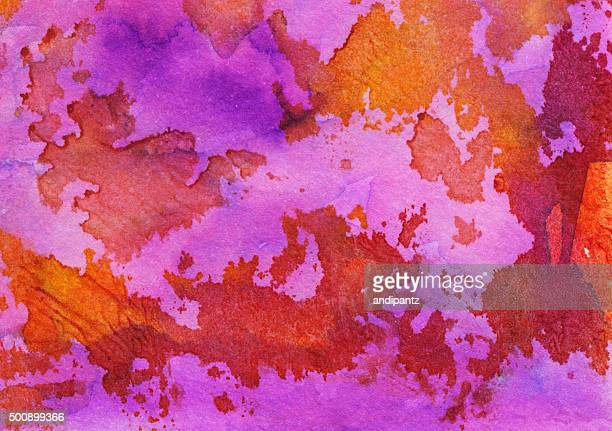 Hand painted textured background with bright warm colors