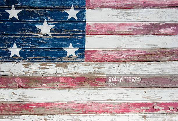 Handbemalte USA. Flagge