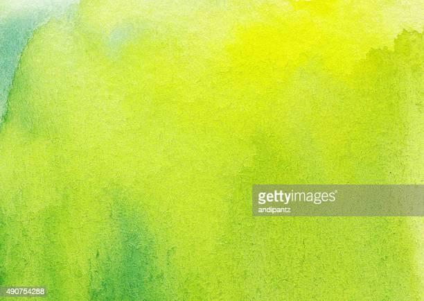 Mão pintada com textura de fundo e Tinta de Aguarela