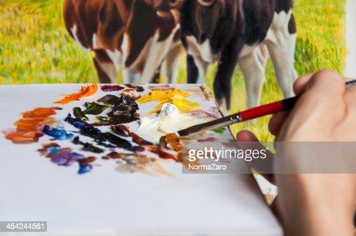 Hand painting : Stock Photo