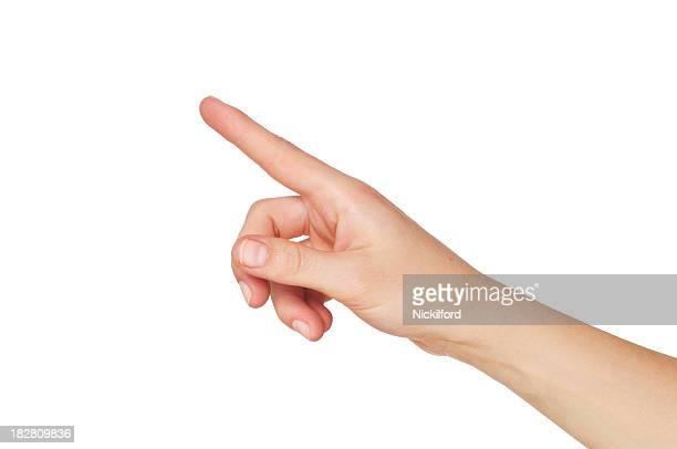 Mão a apontar com o dedo indicador