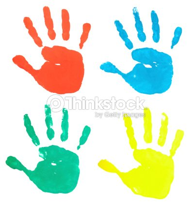 coloring pages of hand prints - photo#35