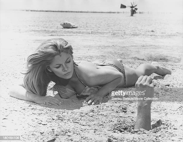 Actress Sondra Locke in a scene from the movie 'Cover Me Babe' or 'Run Shadow Run' 1970