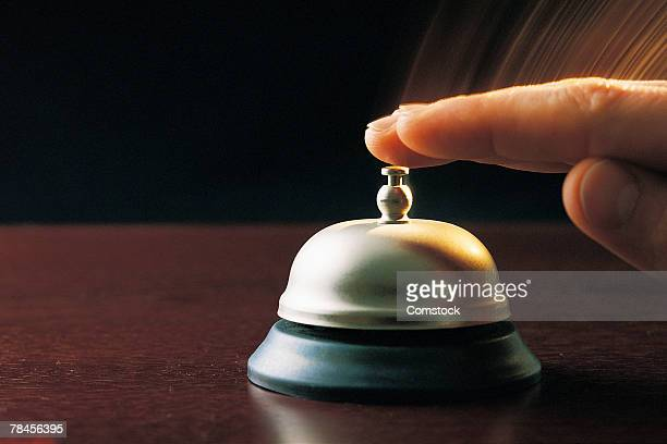 Hand ringing bell for service