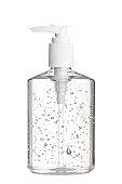 Hand Sanitizer Gel in Clear Pump Bottle