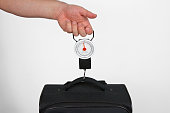 Measuring the weight of a suitcase for airline travel weight limitations