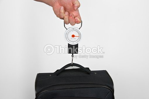 Hand Scale For Measuring Luggage Weight Stock Photo | Thinkstock