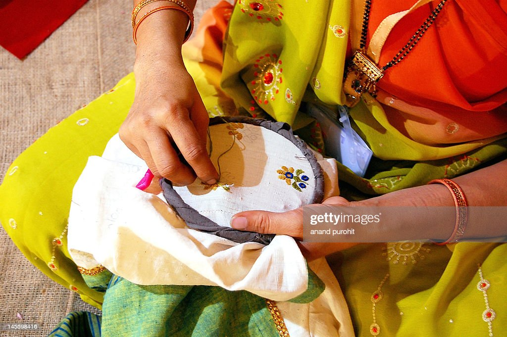 Hand sewing : Stock Photo