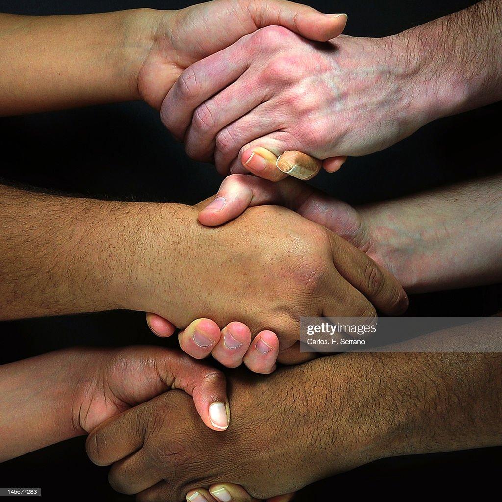 Hand shaking : Stock Photo