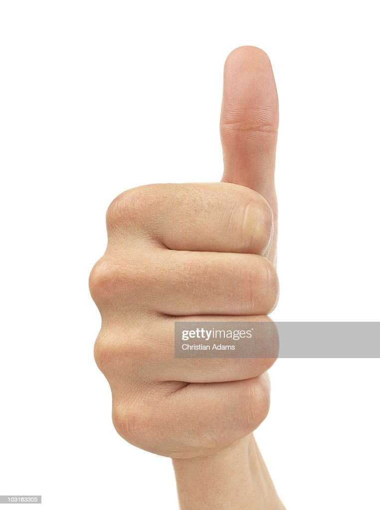 hand sign - thumbs up