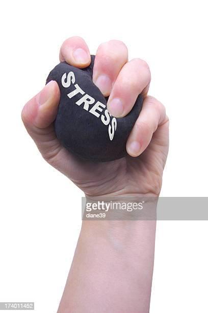 Mão apertar uma Bola Anti-Stresse