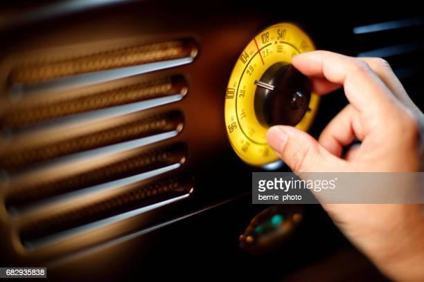 Hand tuning fm Retro radio knob