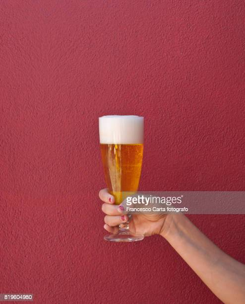 Hand with beer