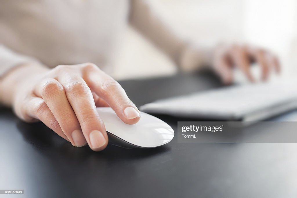 Hand with Computer Mouse : Stock Photo