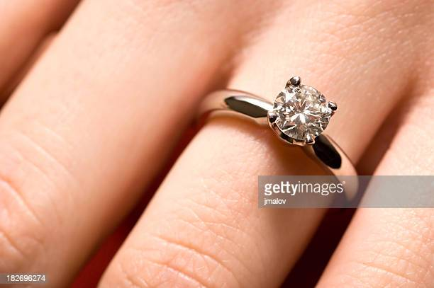 Hand with Diamond Ring