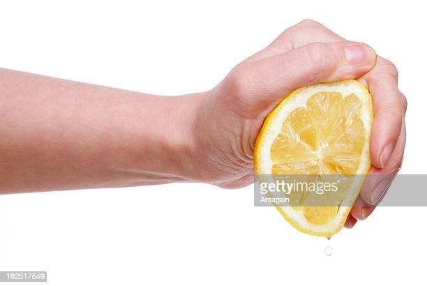 手、レモン