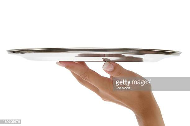 Hand With Silver Tray