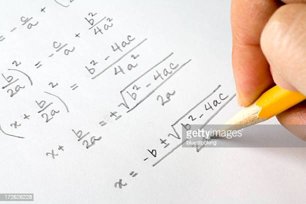 Hand writing algebra equations