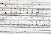 Sketch of jazz voice music score arrangement