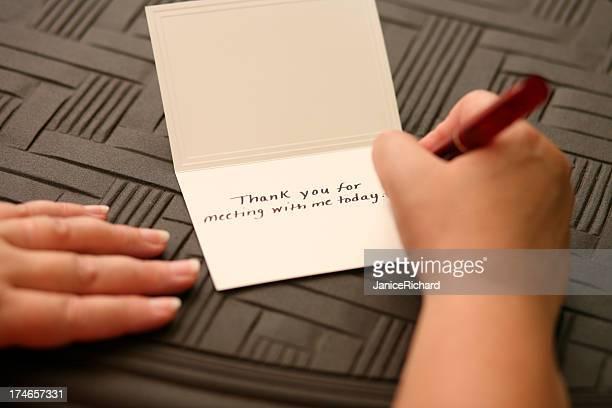 Hand Schreiben danke beachten Sie