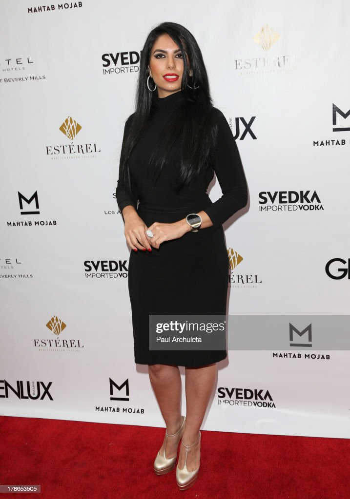 Handbag Designer Mahtab Mojab attends the Genlux Magazine release party at Sofitel Hotel on August 29, 2013 in Los Angeles, California.