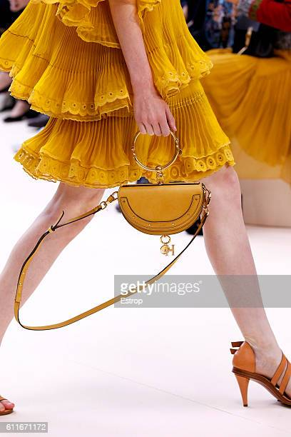 Handbag detail at the Chloe show as part of the Paris Fashion Week Womenswear Spring/Summer 2017 on September 28 2016 in Paris France