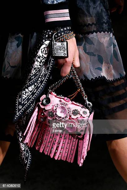 Handbag detail at the Coach 1941show on September 13 2016 in New York City