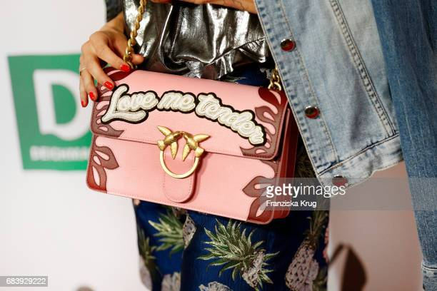 Handbag detail of Janin Ullmann during the Deichmann Shoe Step of the year award at Curio Haus on May 16 2017 in Hamburg Germany