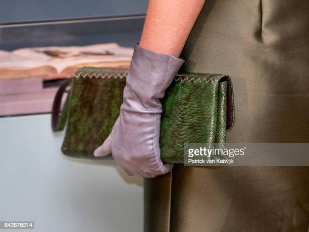 Handbag of Queen Maxima of The Netherlands who opens the exhibition Royal Paradise Aert Schulman and the imagination of nature in the Dordrechts...