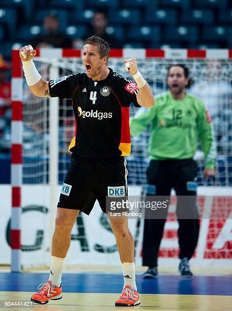 Handball Denmark vs Germany in Belgrade Oliver Roggisch Tyskland / germany ©Lars Rønbøg / Frontzonesport
