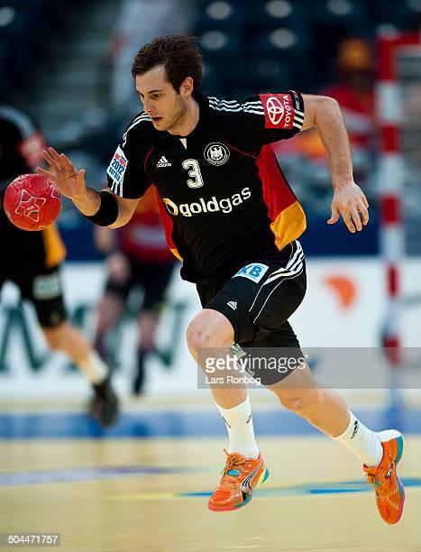 Handball Denmark vs Germany in Belgrade Uwe Gensheimer Tyskland / Germany ©Lars Rønbøg / Frontzonesport