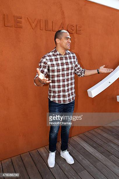 Handball Player of PSG Daniel Narcisse attends the 2015 Roland Garros French Tennis Open Day Fourteen on June 6 2015 in Paris France